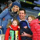 Happy family: Moy Tir Na nOg veteran Sean Cavanagh with his wife Fionnuala, daughters Eva and Clara and son Sean junior