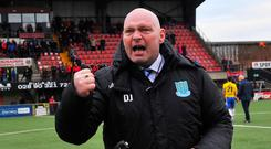 Ballymena manager David Jeffrey