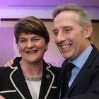 DUP's Arlene Foster with Ian Paisley MP.