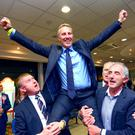 Thursday 7th May 2015 - Ian Paisley during the North Antrim and Mid-Ulster Counts at the seven towers Leisure Centre in Ballymena