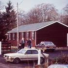 Darkley Pentecostal Hall, known as Mountain Lodge, following the shootings on November 20, 1983