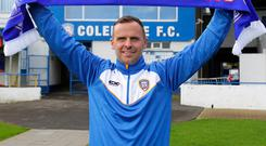 New dawn: Rodney McAree is ready for his first game in charge of Coleraine