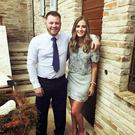 Matt Campbell and fiance Robyn Newberry