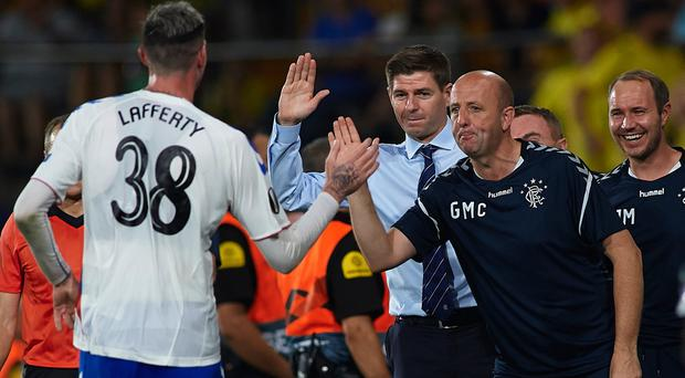 Kyle Lafferty and Steven Gerrard have been full of praise for each other.