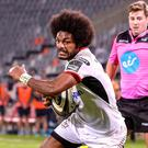 Rescued: Henry Speight goes over for try that helped earn Ulster a draw in South Africa last night