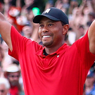 Comeback kid: Tiger Woods last night