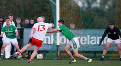 Double bonus: Paddy Cunningham's two goals underscored the LamhDhearg recovery against Eoghan Rua yesterday