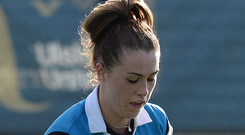 On the mark: Robyn Chambers scored in Lisnagarvey's win