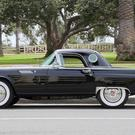 A black Ford Thunderbird that was formerly owned by the late American actress Marilyn Monroe is to be auctioned (Julien's Auctions/PA Images)