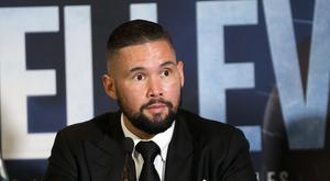 Tony Bellew during the press conference in Manchester (PA Wire/Barrington Coombs)