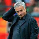 Under pressure: Manchester United manager Jose Mourinho