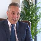 Ian Paisley during Monday night's interview / Credit: UTV