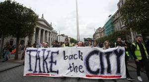 People during a Take Back The City group organised protest (Brian Lawless/PA)