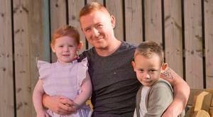 Close bond: Stephen with children Connlaoi and Fiadh