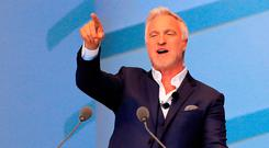 Celebrity host: former footballer David Ginola