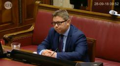 Timothy Johnston in front of the RHI inquiry.