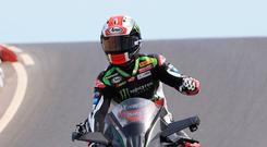 On track: Northern Ireland ace Jonathan Rea can clinch an historic fourth World Superbike title in a row at Magny Cours
