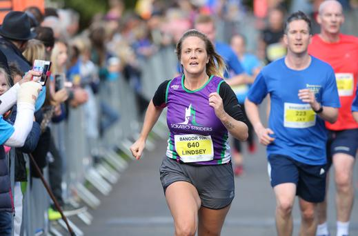 Press Eye - Belfast - Northern Ireland - 29th September 2018 - Runners pictured at the Northern Ireland and Ulster Championship 10K in Bangor in association with George Best Belfast City Airport. Photo by Kelvin Boyes / Press Eye.