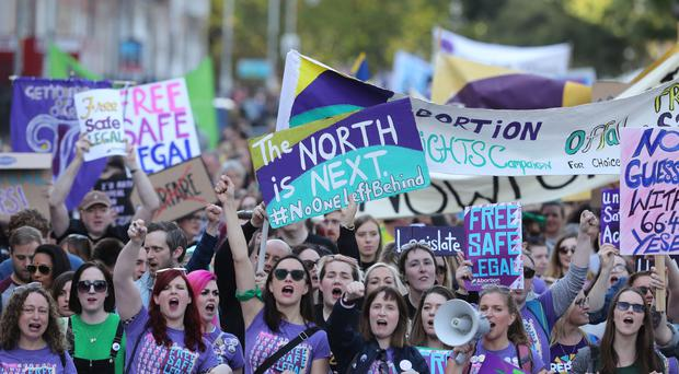 The Abortion Rights Campaign march (Niall Carson/PA)
