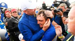 Francesco Molinari secured the winning point for Europe.