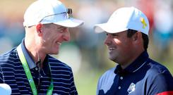 USA captain Jim Furyk (left) and his pairing decisions angered Patrick Reed.