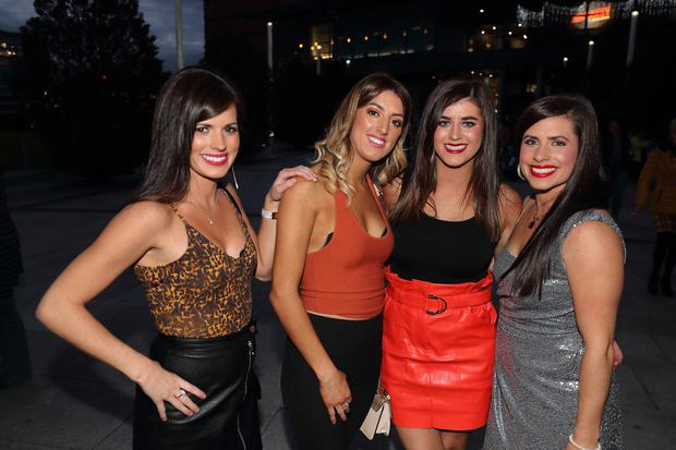 The Casey sisters from Ballymena, Maria Shauna, Ciara and Cathleen, Shania Twain fans at the SSE Arena. Picture Colm O'Reilly Sunday Life.