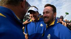 Graeme McDowell (right) was one of Thomas Bjorn's vice-captains and has a taste for the top job.
