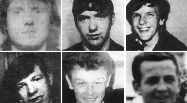 James McCann, 19, James Sloan, 19, Anthony Campbell, 19, Ambrose Hardy, 24, John Loughran, 34 and Brendan Maguire, 32 were killed on 3 February 1973. Credit: BBC