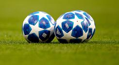 There were two balls on the pitch in the build-up to Napoli U19s' equaliser against Liverpool U19s.