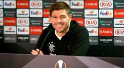 Feeling good: Steven Gerrard wants Rangers to seize the initiative