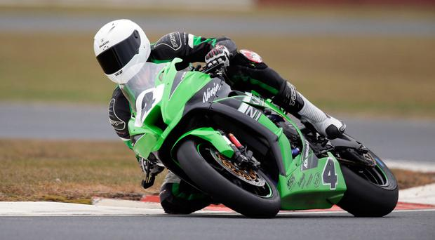 Super show: Gerard Kinghan has Superbike title in the bag