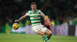 Impressed: Celtic defender Kieran Tierney believes that Salzburg are a Champions League quality side
