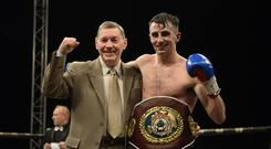 Easy work: Tyrone McCullagh after his win over Josh Kennedy