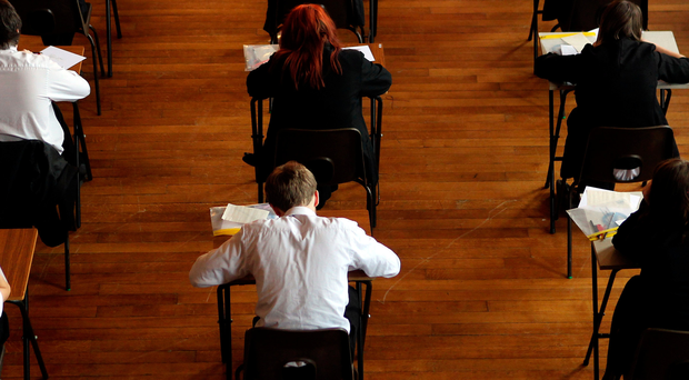 Pressure: pupils sitting an exam (stock picture)