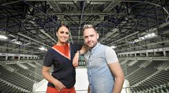 Farmers' Bash 2018 launch, at the SSE Arena, Belfast. Picture: Cliff Donaldson - Lisa McHugh and Derek Ryan