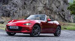 The updated Mazda MX 5RT.