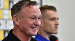 Michael O'Neill isn't banking on more Northern Irish players following captain Steven Davis into England's top flight.