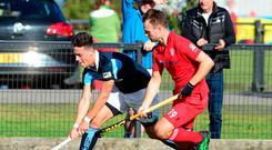 Red-hot form: Lisnagarvey ace Matthew Nelson (left) is keen to build on his good start to the season