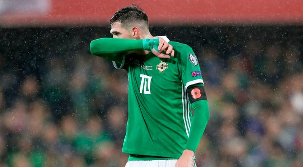 No go: Kyle Lafferty has angered boss Michael O'Neill after pulling out of the Northern Ireland squad on the eve of a training camp before the clash in Austria