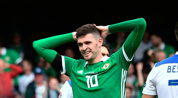 Bad call: Kyle Lafferty pulling out at late notice has angered boss Michael O'Neill