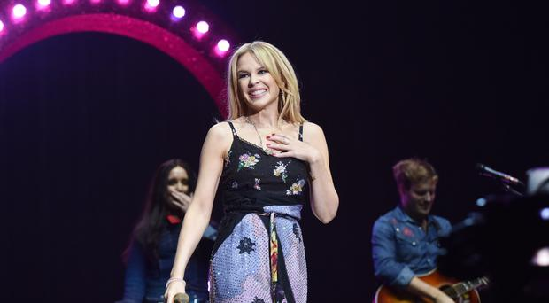 Kylie Minogue has rescheduled concerts she was forced to cancel due to a throat infection (Sarah Jeynes/BBC/PA)