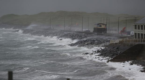 File picture of stormy weather in County Clare (Niall Carson/PA)