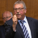 The DUP's Sammy Wilson gets his point across at Westminster