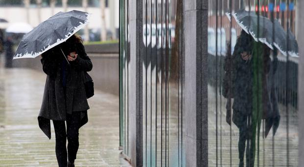 Heavy rainfall could present a risk to life, the Met Office said