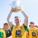 Joy: Donegal celebrate this year's Ulster title coup