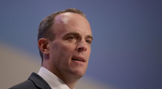 Dominic Raab said any Brexit backstop would have to be finite (Aaron Chown/PA)