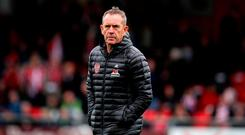 Disappointed: Kenny Shiels