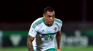 Striker Josh Magennis has been the subject of the song sung by fans (Tim Goode/PA)