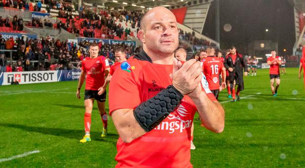 Job done: Rory Best applauds the Ulster fans on Saturday night