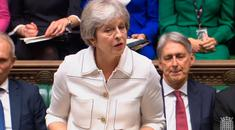 Prime Minister Theresa May addresses the House of Commons, London, with an update on the latest developments in the Brexit negotiations. Pic: PA Wire